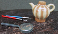 Photorealistic clay teapot
