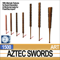 1500 aztec swords 3d 3ds