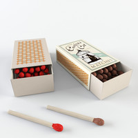 3d model matchstick matchbox match