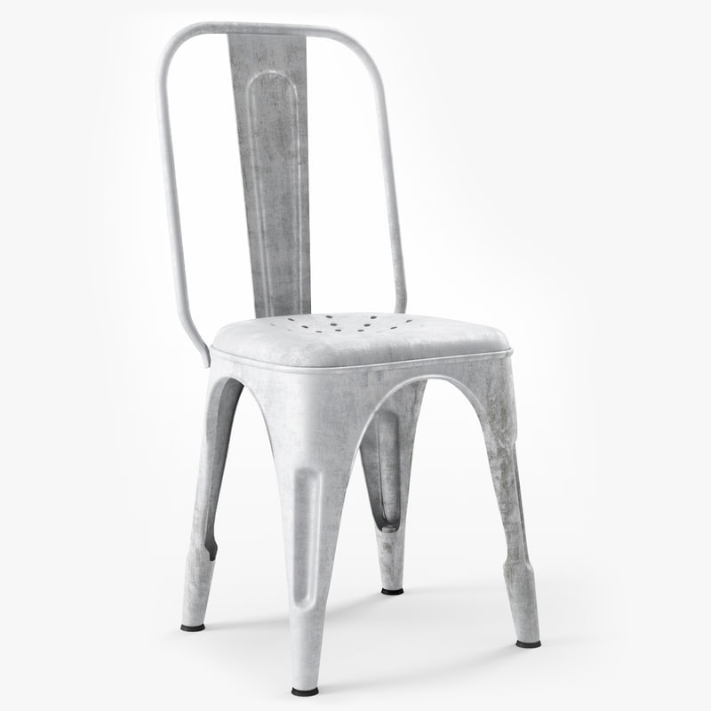 3d model chaise metal b r - Chaises industrielles metal ...