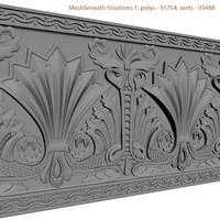 3dsmax decorative carving molding