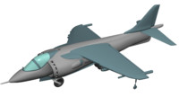3ds max harrier jet