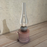 antiques kerosene lamps 3d max