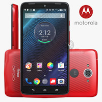 motorola droid turbo red 3d model