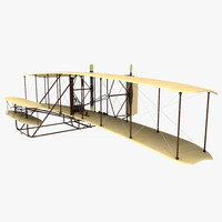 3d model of wright flyer