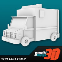 Van low poly