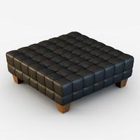 pouf lambert 3d model