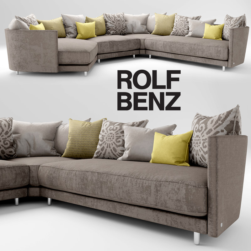rolf benz onda 3d model. Black Bedroom Furniture Sets. Home Design Ideas