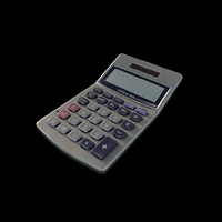 calculator 3d obj