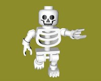 lego skeleton rigged c4d