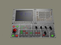 3d electronic control panel