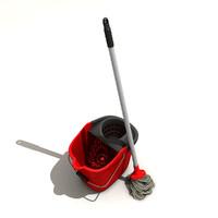 bucket mop 3d model