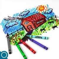3ds max crayon drawings stationery