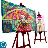 3d easel paintings stationery model