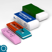 3d erasers rubber stationery
