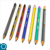 3d model pencils drawings stationery