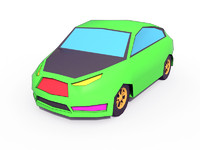 3ds cartoon car