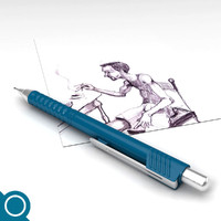 3d model mechanical pencil