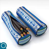 3d pencil bag model