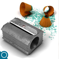 sharpener stationery 3d max