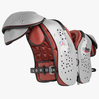 football shoulder pad 3d model