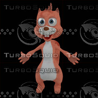 3d model squirrel character chip
