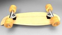 skateboard skate board obj