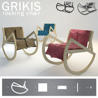 GRIKIS rocking chair with a blanket