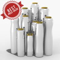 aluminium cans obj