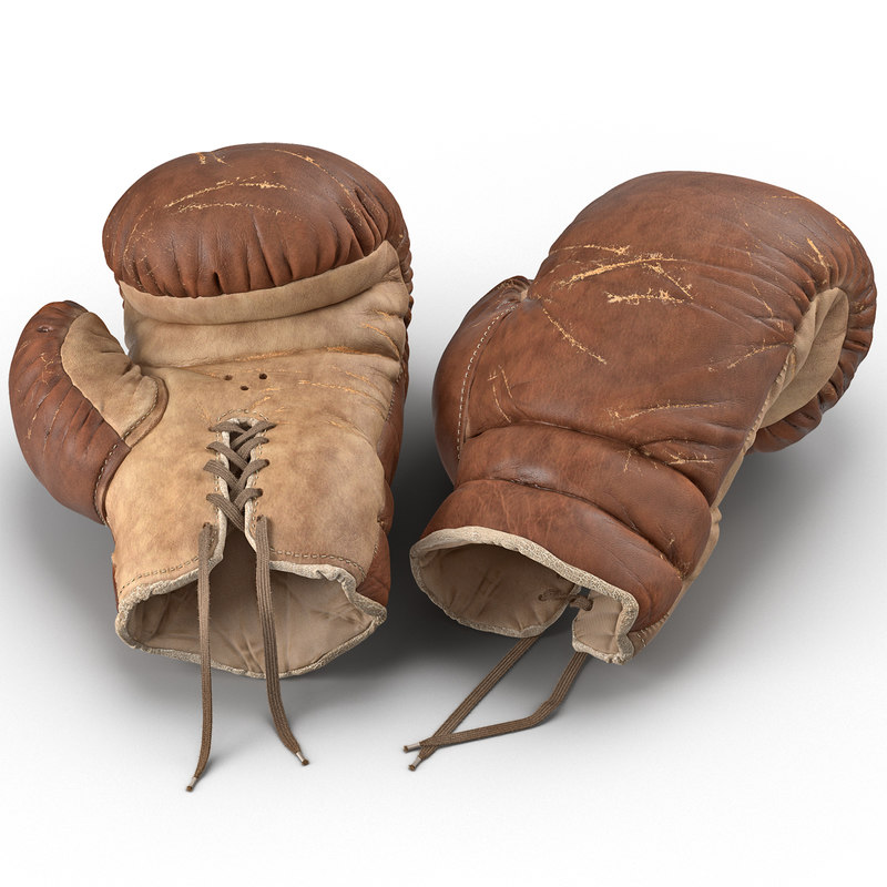 Old Leather Boxing Glove 3d model 01.jpg