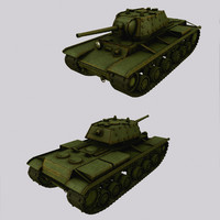 3d kv-1 soviet tank