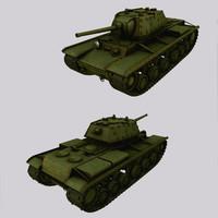 Tank KV-1 (Kliment Voroshilov) low poly