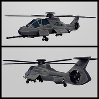 army stealth helicopter rah-66 comanche 3d model