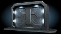 SCI FI GATE DOOR