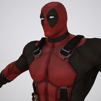 3d deadpool rigged animations model