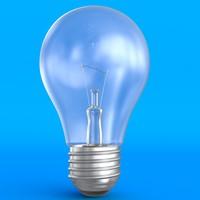 3d classic light bulb