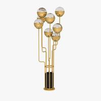 3d model floor lamp lights