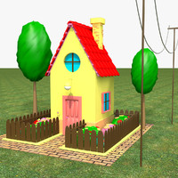 3d c4d house cartoon home