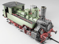 3d steam locomotive