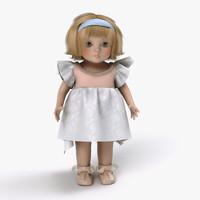 vintage doll 3d model