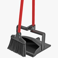 libman broom dustpan set 3d model