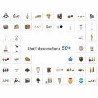 3d shelf decorations 50