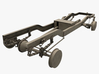 chassis truck 3d 3ds