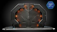 sci fi gate 3d obj
