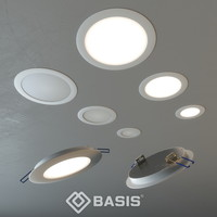 led spotlights basis light 3d obj