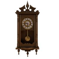 3dsmax wooden clock wallclock