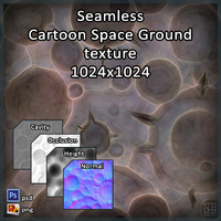 Cartoon Space Ground texture