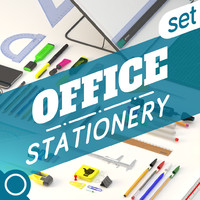 3d model of office set