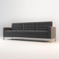 modway loft wool sofa 3d max