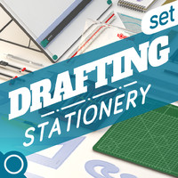 3d drafting set model